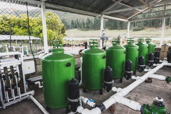Equipo de riego y fertilizacion